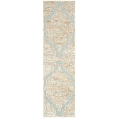 Maspeth Stone & Aqua Contemporary Area Rug Rug Size: Runner 22 x 8