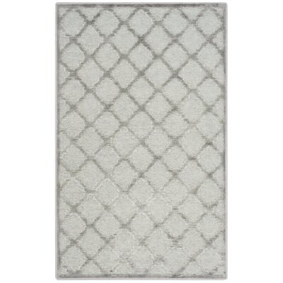 Berloz Gray/Spruce Area Rug Rug Size: 27 x 4