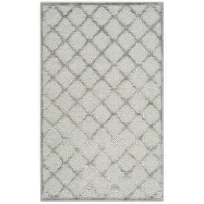 Berloz Gray/Spruce Area Rug Rug Size: 4 x 57