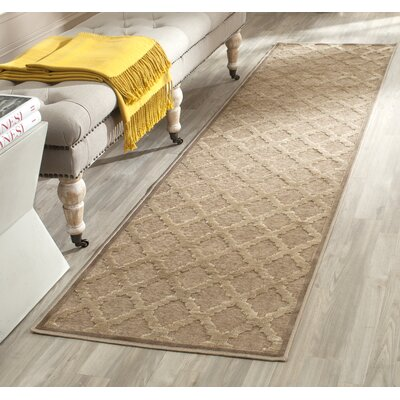 Maspeth Camel Area Rug Rug Size: Runner 22 x 8