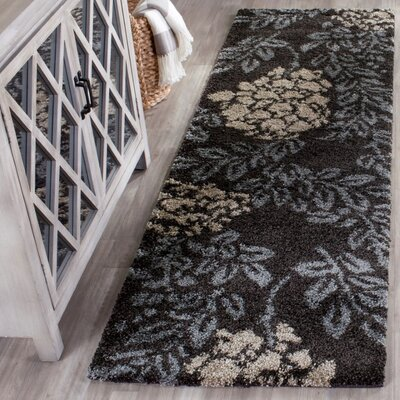 Duffey Dark Brown/Beige Area Rug Rug Size: Runner 23 x 11