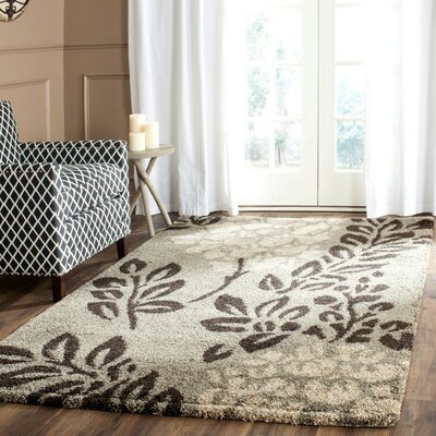 Duffey Smoke/Brown Area Rug Rug Size: Round 4
