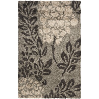 Flanery Smoke/Brown Area Rug Rug Size: 4 x 6
