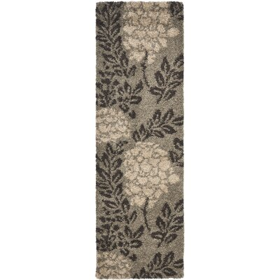 Duffey Smoke Gray Area Rug Rug Size: Runner 23 x 11