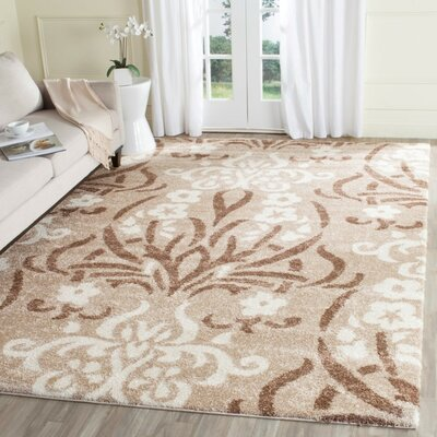 Flanery Light Beige Area Rug Rug Size: Rectangle 86 x 12