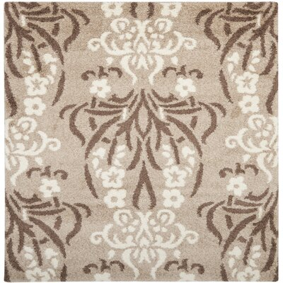 Flanery Light Beige Area Rug Rug Size: Square 67