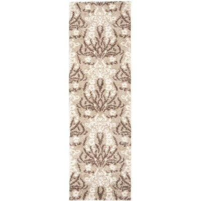 Flanery Light Beige Area Rug Rug Size: Runner 23 x 7