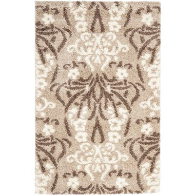 Flanery Light Beige Area Rug Rug Size: Rectangle 33 x 53