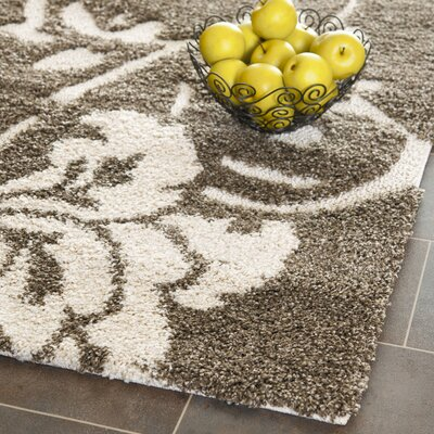 Flanery Dark Beige Area Rug Rug Size: Rectangle 4 x 6
