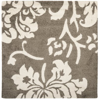 Flanery Dark Beige Area Rug Rug Size: Square 67