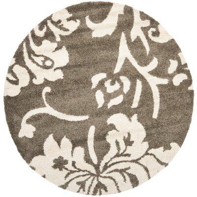 Flanery Dark Beige Area Rug Rug Size: 53 x 76