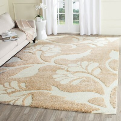 Flanery Light Creme Area Rug Rug Size: 4 x 6