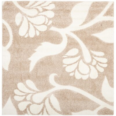 Marybell Light Creme Area Rug Rug Size: Square 67