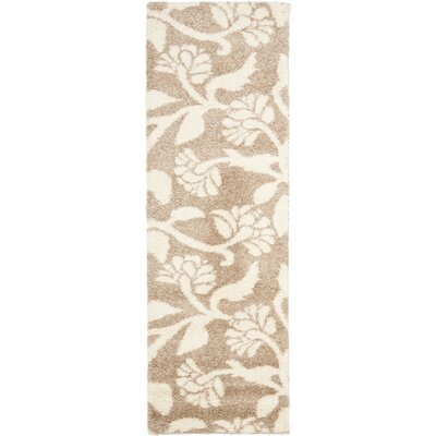 Marybell Light Creme Area Rug Rug Size: Runner 23 x 7