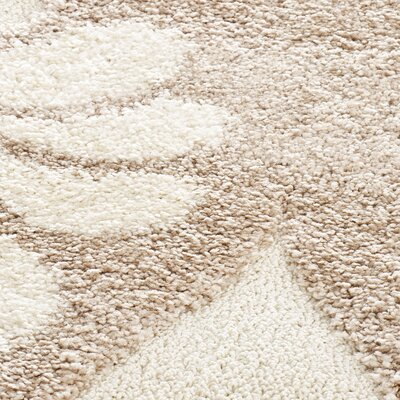 Flanery Light Creme Area Rug Rug Size: 86 x 12
