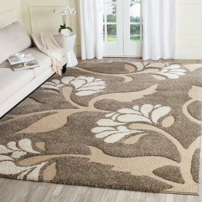 Eulalia Smoke/Beige Area Rug Rug Size: Rectangle 6 X 9