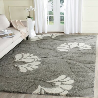 Marybell Gray/Beige Area Rug Rug Size: Rectangle 8 x 10