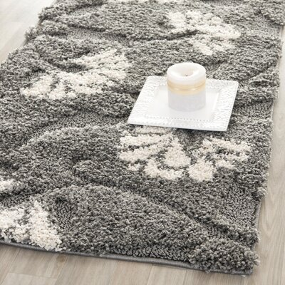 Marybell Gray/Beige Area Rug Rug Size: Runner 23 x 7