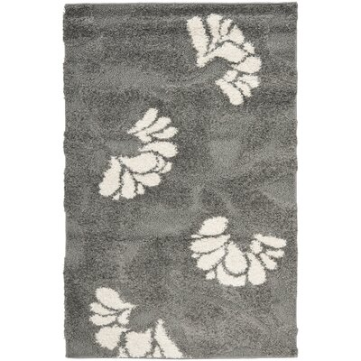 Marybell Gray/Beige Area Rug Rug Size: 4 x 6