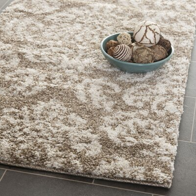 Flanery Beige/Cream Area Rug Rug Size: Square 4