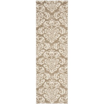 Flanery Beige/Cream Area Rug Rug Size: Runner 23 x 11