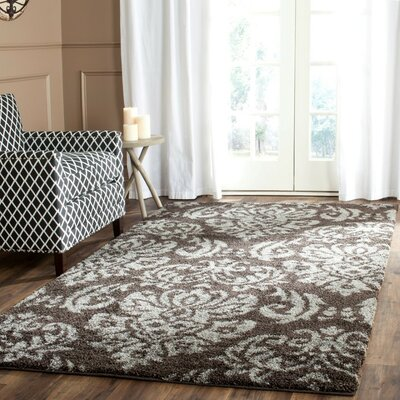 Gustav Dark Smoke Area Rug Rug Size: Square 4