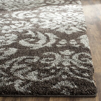 Gustav Dark Smoke Area Rug Rug Size: Rectangle 53 x 76