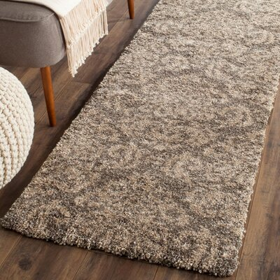 Gustav Light Smoke/Beige Area Rug Rug Size: Round 5