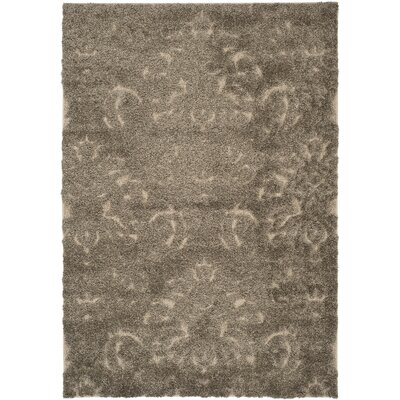 Gustav Light Smoke/Beige Area Rug Rug Size: Rectangle 4 x 6