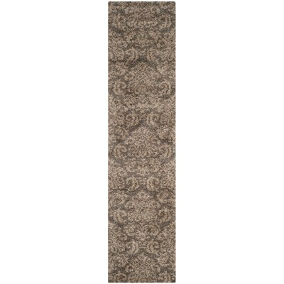 Gustav Light Smoke/Beige Area Rug Rug Size: Runner 23 x 11