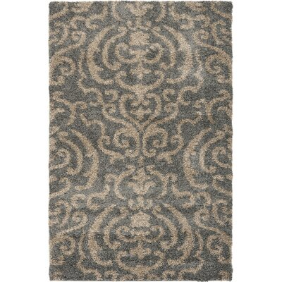 Gustav Light Gray/Beige Area Rug Rug Size: Rectangle 4 x 6