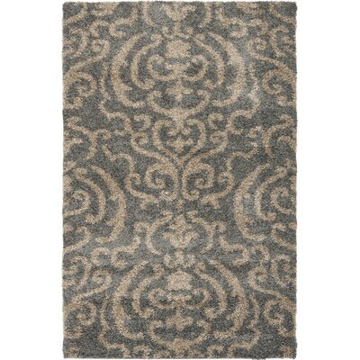 Gustav Light Gray/Beige Area Rug Rug Size: Square 4