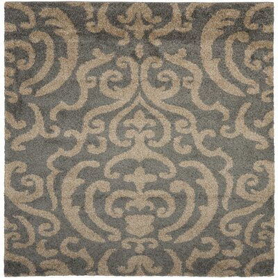 Flanery Light Gray/Beige Area Rug Rug Size: Square 67