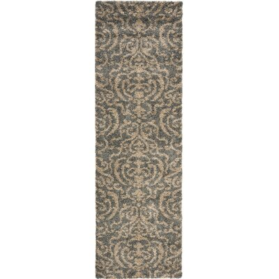 Gustav Light Gray/Beige Area Rug Rug Size: Runner 23 x 7