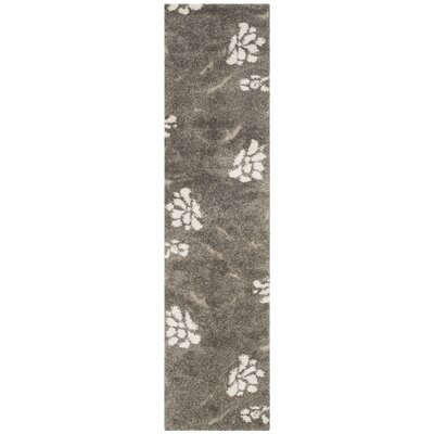 Duffey Smoke/Beige Area Rug Rug Size: Runner 23 x 10