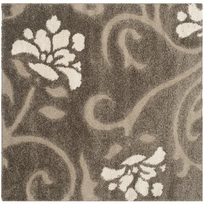 Flanery Smoke & Beige Area Rug Rug Size: Square 5