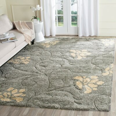 Flanery Gray/Beige Area Rug Rug Size: Rectangle 6 x 9