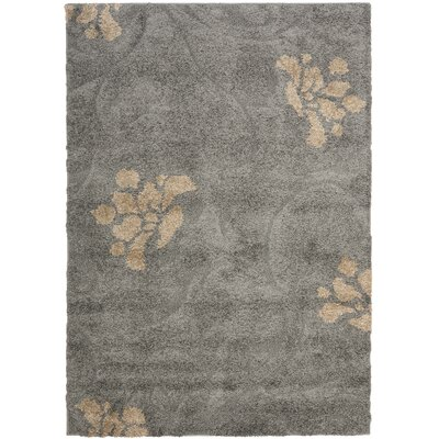 Flanery Gray/Beige Area Rug Rug Size: 53 x 76