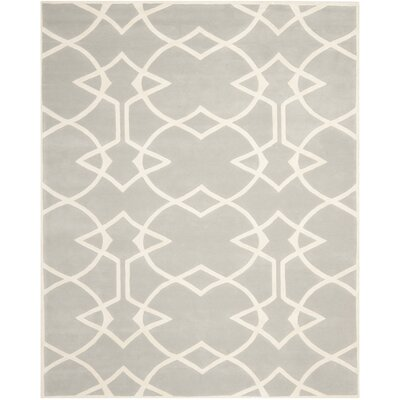 Roni Grey / Ivory Area Rug Rug Size: Rectangle 8 x 10