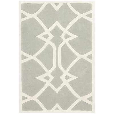 Roni Grey / Ivory Area Rug Rug Size: Rectangle 2 x 3