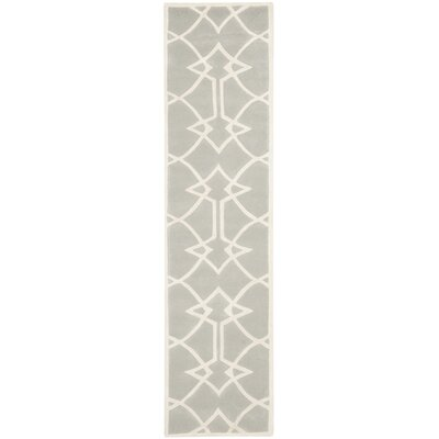 Georges Grey / Ivory Area Rug Rug Size: Runner 23 x 9