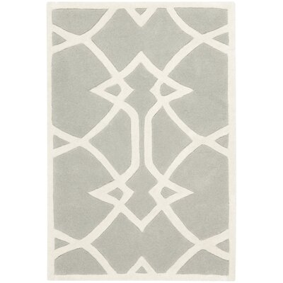 Georges Grey / Ivory Area Rug Rug Size: 4 x 6