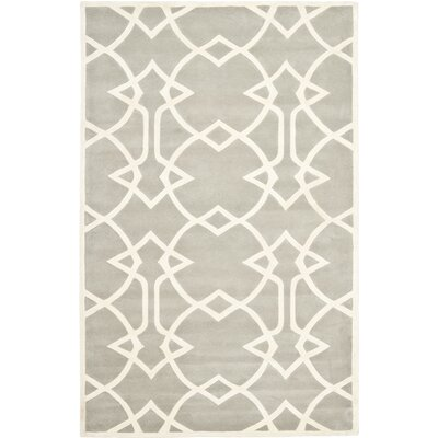 Georges Grey / Ivory Area Rug Rug Size: 6 x 9