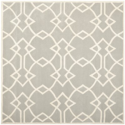 Georges Grey / Ivory Area Rug Rug Size: Square 7