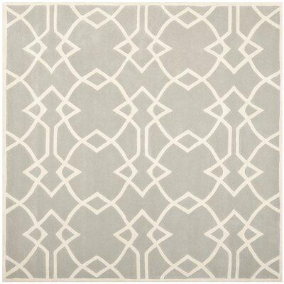 Roni Grey / Ivory Area Rug Rug Size: Square 7