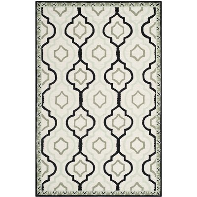Altman Ivory / Black Area Rug Rug Size: Rectangle 53 x 83
