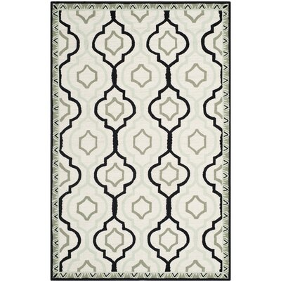 Altman Ivory / Black Area Rug Rug Size: Rectangle 18 x 26