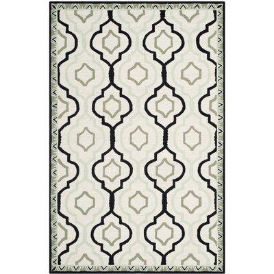 Altman Ivory / Black Area Rug Rug Size: 18 x 26