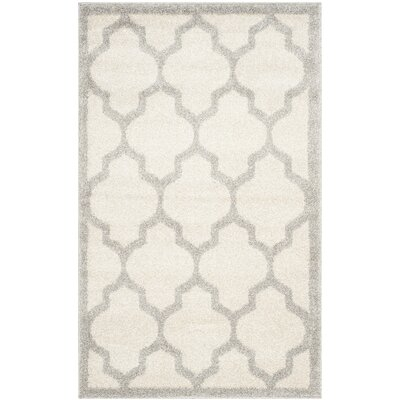 Levon Beige/Light Grey Area Rug Rug Size: 26 x 4