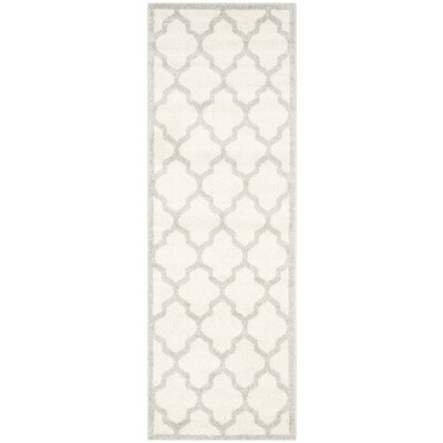 Maritza Beige/Light Grey Flat Woven Area Rug Rug Size: Runner 23 x 13